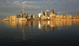 Morning golden hour in Toronto. Toronto at sunrise, Ontario, Canada Stock Photography