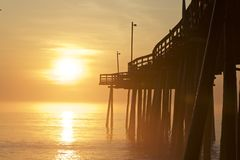 Morning at Golden Pier Royalty Free Stock Photography
