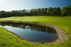 Morning golf scenery Royalty Free Stock Images