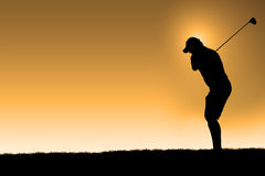 Morning golf Stock Images