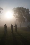 Morning Golfers Stock Photography