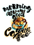 Morning always good with coffee Royalty Free Stock Images