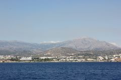 Morning Greece sea in Crete royalty free stock photography