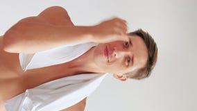 Morning grooming hygiene skincare masculine