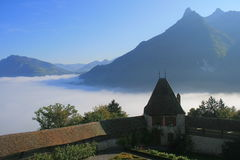 A morning in Gruyeres Royalty Free Stock Images