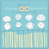 Morning gymnastics Stock Photos