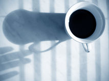 Morning habit. Enjoying a cup of coffee in the morning Stock Photo