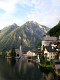 Morning in Hallstatt city Royalty Free Stock Photos