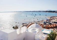Morning in Hammamet. Morning scenery of Tunisia beach in medina, Hammamet Stock Photography