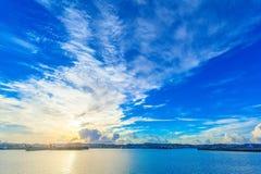 Morning harbor of Okinawa Royalty Free Stock Photos