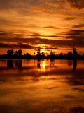 Sunset in Cambodia stock photos
