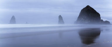 Morning at Haystack Rock in Oregon Royalty Free Stock Images