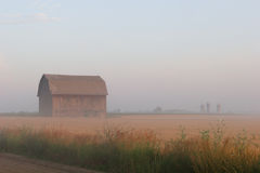 Morning Haze. The hazy morning on the farm after the annual harvest Stock Photography