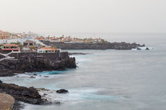 Morning haze over resort area on Tenerife seacoast Royalty Free Stock Photo