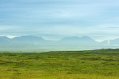 Morning haze at sunrise. Near Fludir, Iceland Royalty Free Stock Photography