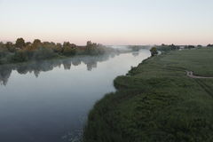 Morning haze. Thick fog, country  fishing Stock Photography