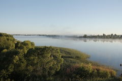 Morning haze. Thick fog, country  fishing Royalty Free Stock Photography