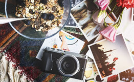 Morning Healthy Fresh Breakfast Camera Concept Stock Photos