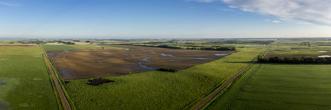 Morning in the Heartland. Panoramic View of Midwest morning Stock Images