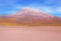 Morning highland volcanic landscape in Atacama desert. Royalty Free Stock Photos
