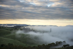 View from Lithgow countryside town in NSW Australia Royalty Free Stock Photography