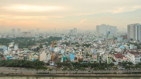 Morning in Ho Chi Minh City. Timelapse. stock video