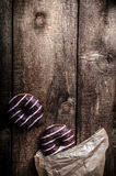 Morning - Homemade donuts filled with chocolate Royalty Free Stock Images