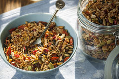 Morning homemade granola Royalty Free Stock Photo