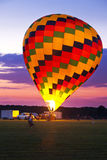 Morning Hot Air Balloon Launch Royalty Free Stock Images