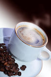 Morning hot coffee. The morning hot coffee on a beautiful background Royalty Free Stock Images