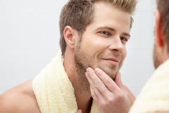 Morning hygiene in the bathroom Royalty Free Stock Images