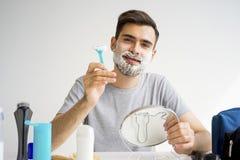 Guy morning hygiene Stock Image