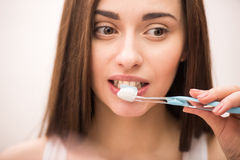 Morning hygiene Stock Images