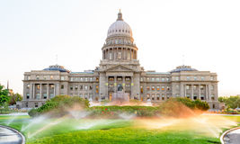 Morning on the Idaho state capital grounds Royalty Free Stock Photography