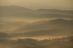 Morning inverse landscape. In hill stock image