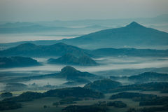 Morning inverse landscape. In hill royalty free stock images