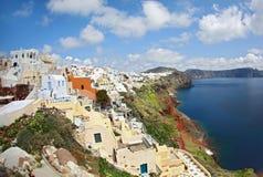 Morning on the island of Santorin Royalty Free Stock Photos