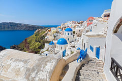 Morning on the island of Santorini Stock Image