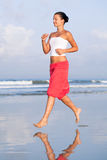 Morning jog. By the sea side Royalty Free Stock Images