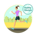 Morning jogging girl Royalty Free Stock Photography
