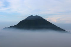 Morning at Kawah Ijen. Gunung Raung taken from Kawah Ijen stock photography