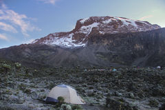 Morning in Kilimanjaro. Barranco camp,morning in Kilimanjaro royalty free stock photos