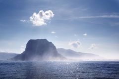 Morning kind on peninsula Le Morne on Mauri Royalty Free Stock Photos