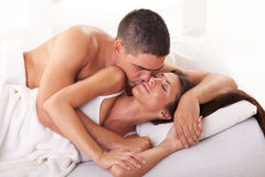 Morning kiss Royalty Free Stock Images