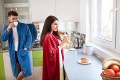 Morning in kitchen royalty free stock images