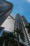 Morning at KLCC. View from down to up KLCC in the morning stock photo
