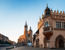 Morning in Krakow Royalty Free Stock Images