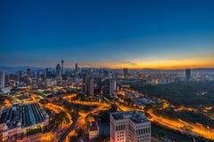 Morning At Kuala Lumpur. Sunset view of Kuala Lumpur City, Malaysia royalty free stock photography