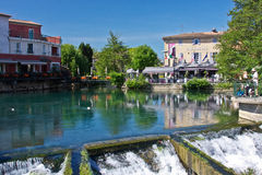 Morning in L'Isle sur la Sorgue Royalty Free Stock Photography