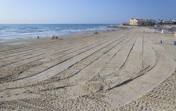 Morning on La Zenia beach Stock Photo